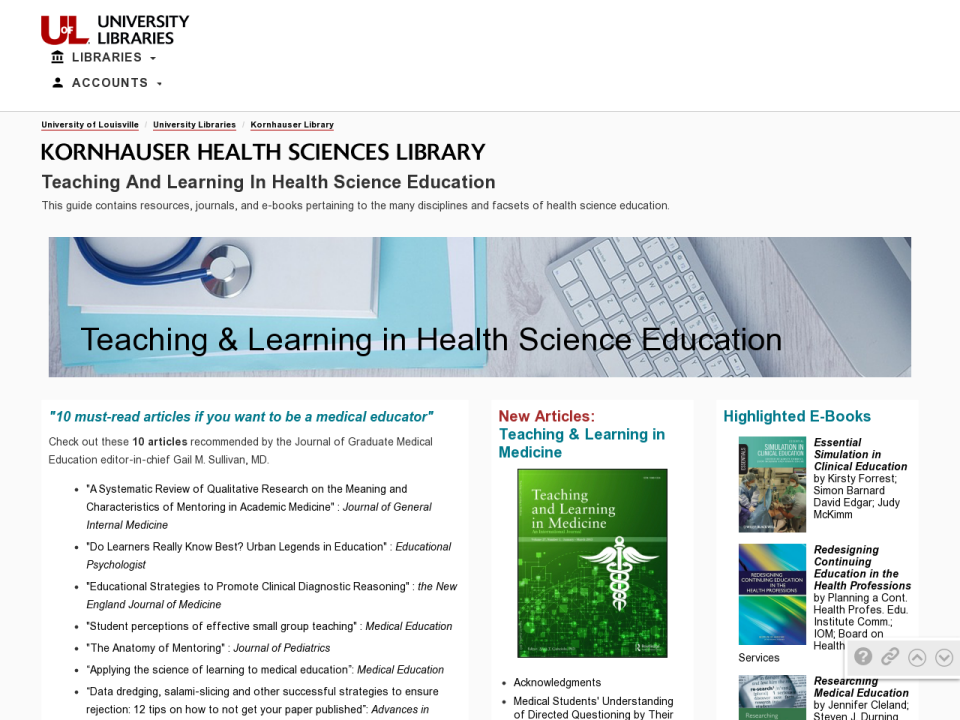 Teaching and Learning Guide Screenshot